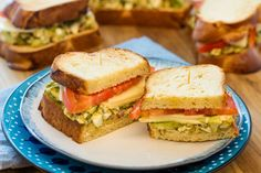 Chopped Egg and Avocado Sandwiches
