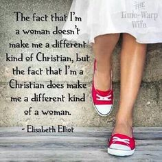 Elizabeth Elliot Quote: A different kind of Christian