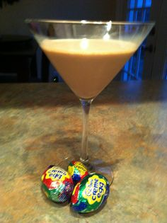 Slimmed Down Sensation: Cadbury Creme Egg Martini