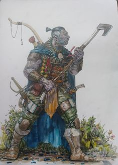 "M. Hilker on Twitter: ""Solomon Koga the Half-Orc fighter/ranger… """
