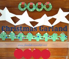 Free templates and instructions for Christmas garland. Christmas craft for kids