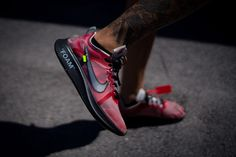 9ad681fd1ba An On Foot Look At The Off-White x Nike Zoom Fly SP  Burgundy