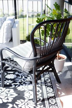 That chair looks totally the same as #IKEA Storsele, which is a high-back, rattan and handmade. Picture from HOUSE of MANDY