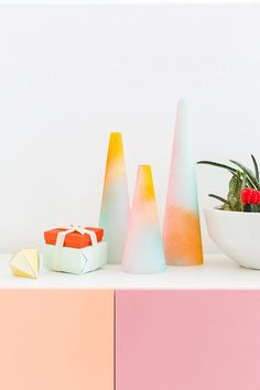 DIY foam gradient trees - sugar and cloth