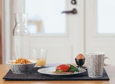 Rag Rug series designed by Finnish interior designer Teuvo Loman. Table Settings, Interior Design, Rugs, Home, Nest Design, Farmhouse Rugs, Home Interior Design, Interior Designing, Place Settings
