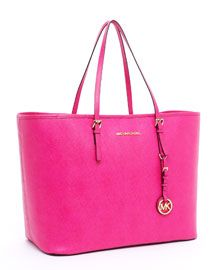 V0ZHY MICHAEL Michael Kors  Jet Set Medium Travel Tote