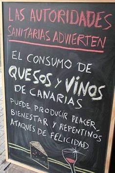 el consumo de quesos y vinos canarias