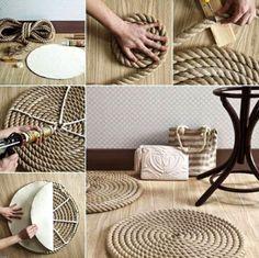 Cooler runder teppich zum Selbermachen und es ist ganz leicht