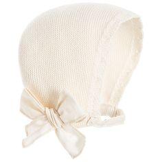 Naturapura - Baby Girls Beige Organic Cotton Bonnet   Childrensalon