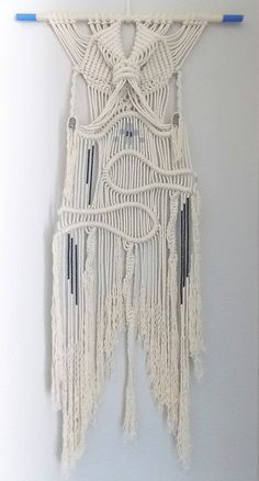 Macrame Wall Hanging Stargazer by HIMO ART One of a by HIMOART