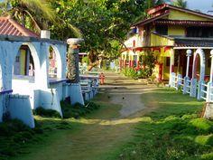 Colorful town of Isla Grande Panama Central America 1997-1999