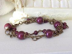 Victorian Style Triple  Strand Bracelet by TreasuresofJewels