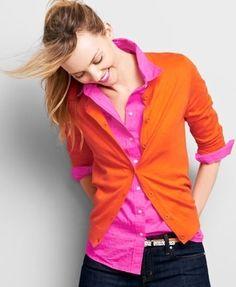 Pink & orange..Love this color mix.