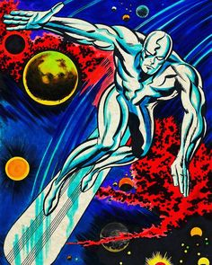 The Silver Surfer, by Jack Kirby The Effective Pictures We Offer You About Marvel Comics memes A quality picture can Marvel Comics, Marvel E Dc, Marvel Heroes, Marvel Avengers, Marvel Comic Character, Marvel Comic Books, Marvel Characters, Comic Books Art, Book Art