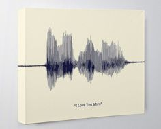 I Love You More Sign Sound Wave Art Canvas Voice Art Birthday Gift Engagement Gift for Girlfriend A perfect cotton second wedding anniversary gift idea! A personalized sound wave art canvas is a gift that speaks from t. Diy Projects For Boyfriend, Christmas Gifts For Girlfriend, Presents For Boyfriend, Birthday Gifts For Girlfriend, Boyfriend Birthday, Boyfriend Gifts, Boyfriend Ideas, Ideal Boyfriend, Boyfriend Canvas