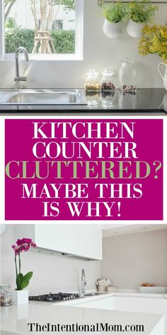 Are your kitchen countertops cluttered? Mine certainly can be, but I've found 7 common causes. Make sure these don't happen to YOU! via @www.pinterest.com/JenRoskamp