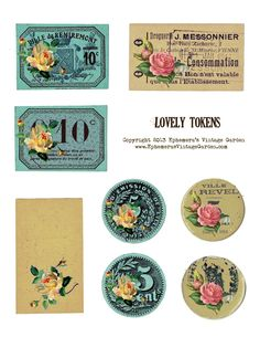 Ephemera's Vintage Garden: Free Printable - Lovely Token Tags
