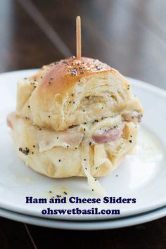 Ham and Cheese Sliders - Oh Sweet Basil