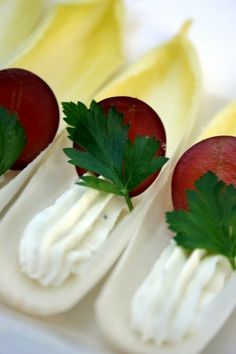 Belgian Endive with Blue Cheese and Grape