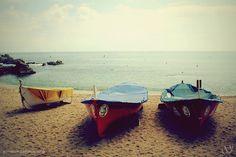 Three boats in Lloret de Mar. I love Lloret, such a nice place!