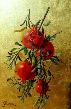Pomegranate branch