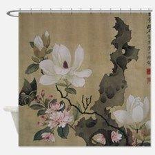 Chen Hongshou Leaf Album Painting Shower Curtain for