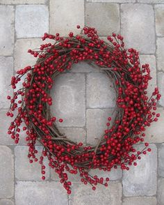 cranberry wreath for the entry to the house?