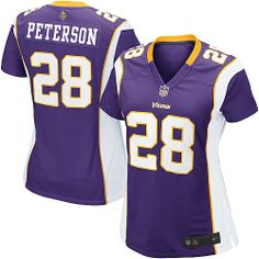 78ba349a5  22 for Women′s Nike Minnesota Vikings 28 Adrian Peterson Game Team Color  Jersey.