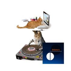 Cat DJ Turntables and Laptops now available at OhDaltons.com | #DJ #turntable #laptop #cattoys #catsofinstagram #kittensofinstagram #funnypic #funnypics #funnycat #funnycats #funnykitty #funnykitten #coolcat #funnypets