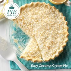 Easy Coconut Cream Pie Recipe from Taste of Home -- shared by Vera Moffitt, Oskaloosa, Kansas