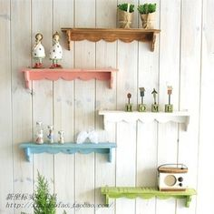 947 diy style solid wood clapboard shelf wallmounted shelves decorative shelf