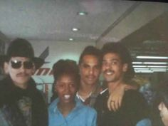 Bobby DeBarge, with James, Randy and unknown person. Chico Debarge, Robert Louis, We Are Family, Fan Page, Celebrity Photos, Bobby, Old School, Legends, Memories