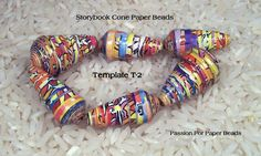 Paper Bead Template T-2 Cone Shape Paper Beads