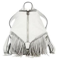 Rebecca Minkoff Mini Julian #Backpack With Fringe White Gold Hardware. #Womensfashion