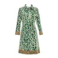 Christian Dior By John Galliano Silk Embellished Leopard Coat, Resort 2008  | From a collection of rare vintage coats and outerwear at https://www.1stdibs.com/fashion/clothing/coats-outerwear/