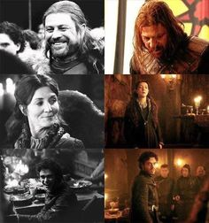 Stark family, then & now, Game of Thrones