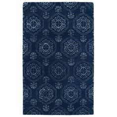 Infinity Blue Geometric Wool Hand-Tufted Area Rug