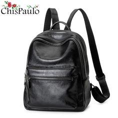 a5ec06e4aa98 CHISPAULO 2017 Casual Women Genuine Leather Kanken Backpacks For Teenage  Girls Fashion Women s Shoulder School Bags