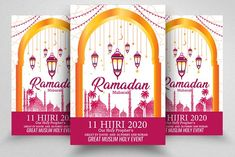 Ramadan Kareem Flyer Template by Business Flyers on Print Templates, Flyer Template, Business Flyers, I Am Awesome, Graphic Design, Ramadan Mubarak, Graphics, Shape, Patterns