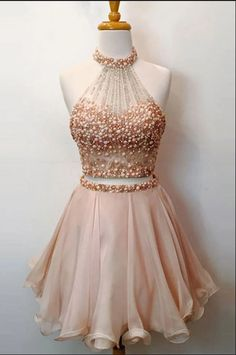 Pink party dresses, short prom dresses, 2017 homecoming dress two pieces sexy short prom dress party dress Sexy Homecoming Dresses, Two Piece Homecoming Dress, Sparkly Prom Dresses, Pink Party Dresses, Prom Dresses Two Piece, Dresses Short, Sweet 16 Dresses, Dress Prom, Party Gowns