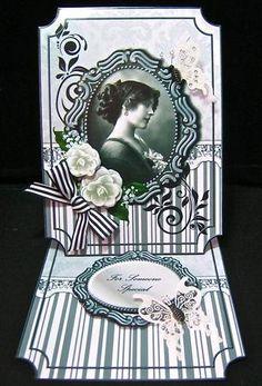 Vintage Beauty 1 Easel Card Kit