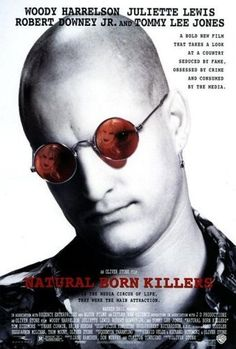 Directed by Oliver Stone.  With Woody Harrelson, Juliette Lewis, Tom Sizemore, Rodney Dangerfield. Two victims of traumatized childhoods become lovers and psychopathic serial murderers irresponsibly glorified by the mass media.