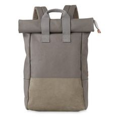 Dexter Roll Top Backpack, in Grey on Whistles