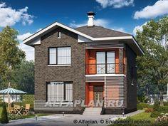 """""""Серебро"""" - современный экономичный дом для небольшой семьи (403A), Alfaplan.ru"""