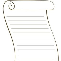 blank scroll template | free printable activity: blank scroll kids, Powerpoint templates