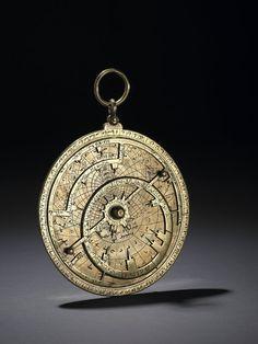 Astrolabe with Arabic (and later Latin) inscription, century, Spain Muslim Culture, Cogs, Moorish, 14th Century, West Africa, British Museum, Islamic Art, Compass, Geometry