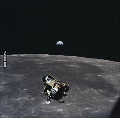 When Michael Collins took this picture he was the only human, living, dead or unborn, not contained in the frame of it.