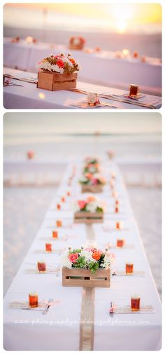 Photography & Design By Lauren- an on location photographer specializing in Weddings, Couples, High School Seniors, Families and Models based in Indiana 502.230.1907   An October wedding on the beach, Destin Florida   beach wedding   table favors   reception tables