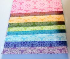 20 Sheets of 6 Lace Pattern Origami Paper 15cm 20 by Foldthepaper, $2.99