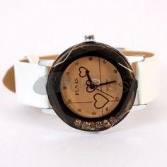 White fashion leather watch